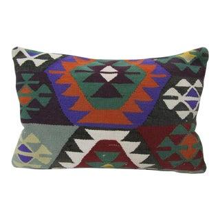Handmade Vintage Kilim Pillow For Sale
