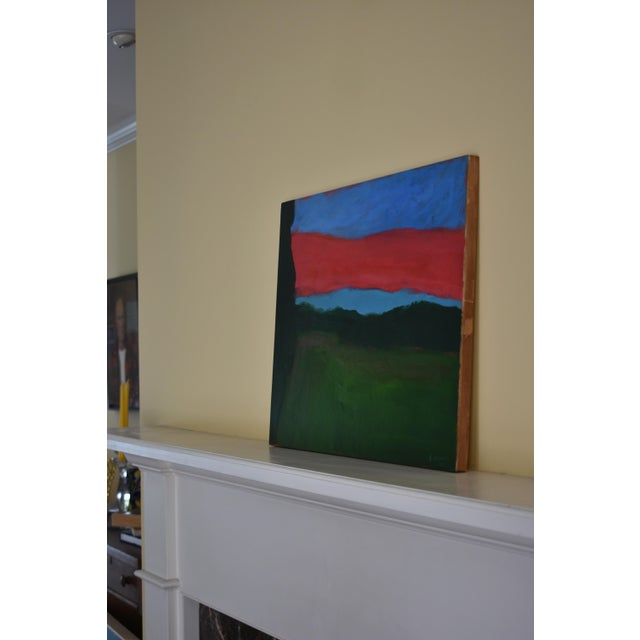 "Paint 2010s Abstract Painting, ""Sunset over Fields"" by Stephen Remick For Sale - Image 7 of 10"