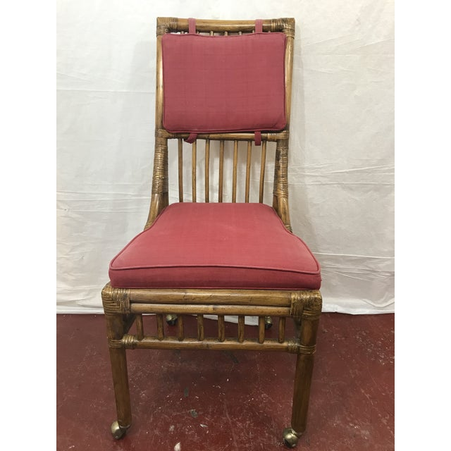 Wood Bamboo Dining Chairs Set of 8 For Sale - Image 7 of 13