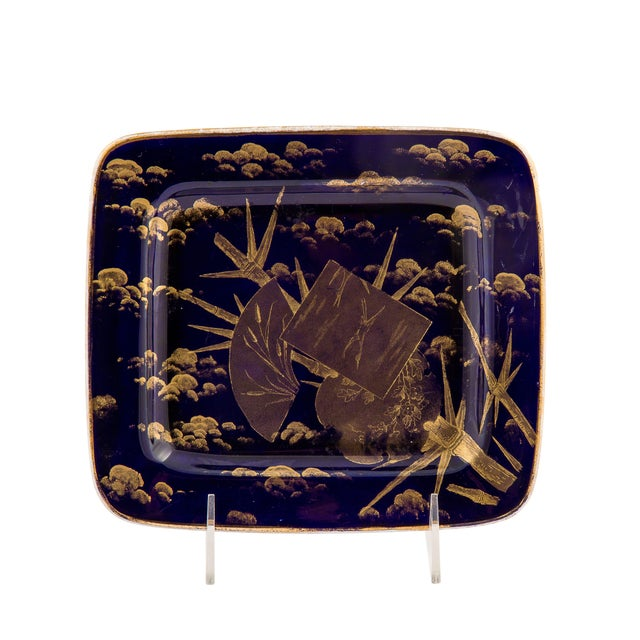 American Ott & Brewer (Trenton, New Jersey,1871-1893) Japanesque Semi-Porcelainous Sardine Box, Cover and Underplate, the...