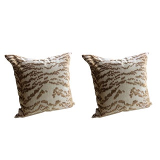 "Cowtan & Tout ""Rajah"" in Beige Pillows - a Pair For Sale"