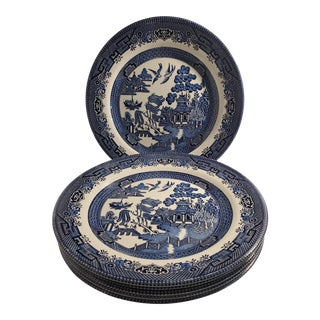Vintage Blue Willow Plates - Set of 6 For Sale