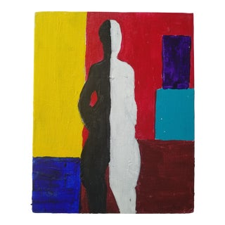 Modern Black and White Figure Painting For Sale