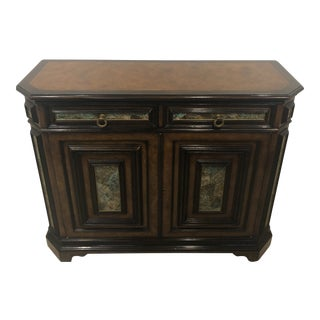 Theodore Alexander Mahogany and Stone Cabinet For Sale