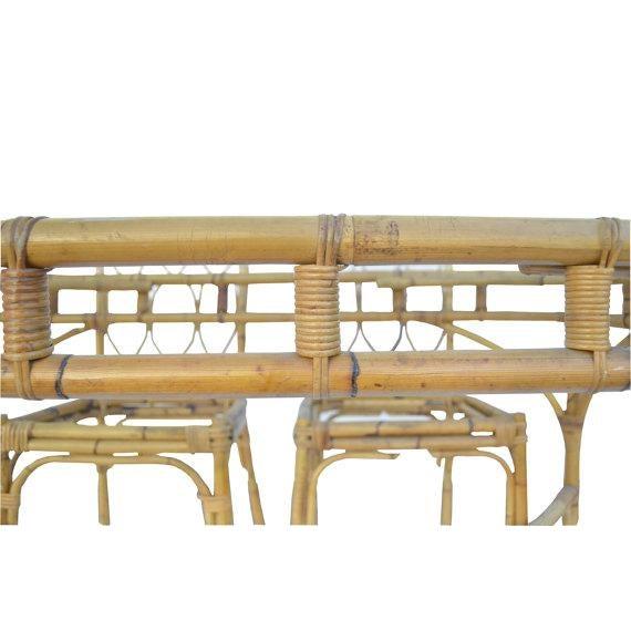 Mid-Century Modern Bamboo Dining Set - Image 5 of 5