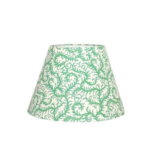 Vine Green Tapered Lamp Shade For Sale