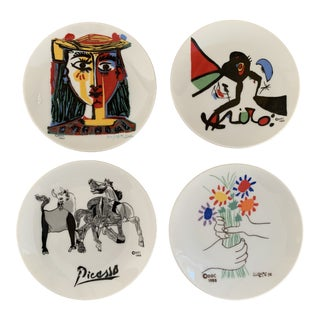 Ddc Miniature Picasso Miro Artist Catchalls- Set of 4 For Sale