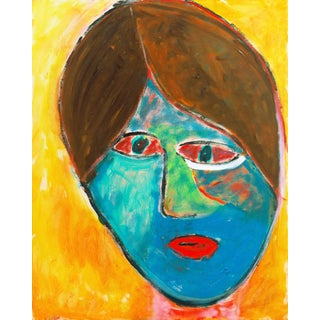'Camille 6' by Anthony McNaught, Fauve Figural of Young Woman, California Post Impressionist Oil For Sale