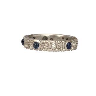 Alex Sepkus Platinum Sapphire & Diamond Ring / Band For Sale