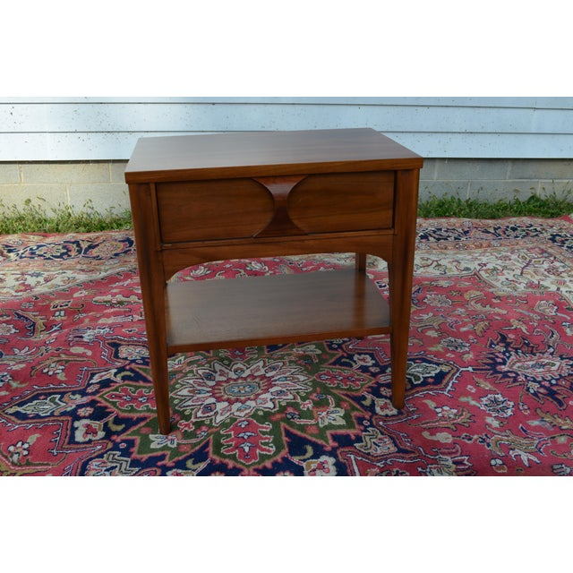 1960s Mid Century Modern Walnut and Rosewood Perspecta Night Stand by Kent Coffey For Sale - Image 6 of 12