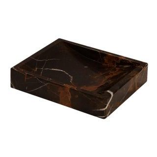 Black & Gold Marble Soap Dish For Sale
