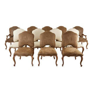 Set of Twelve Baroque Style Dining Chairs by Kreiss Collection For Sale