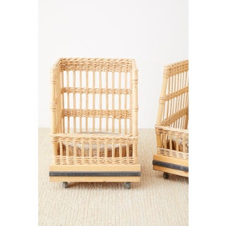 Pair of Wicker Rattan Boulangerie Bread Display Baskets Preview