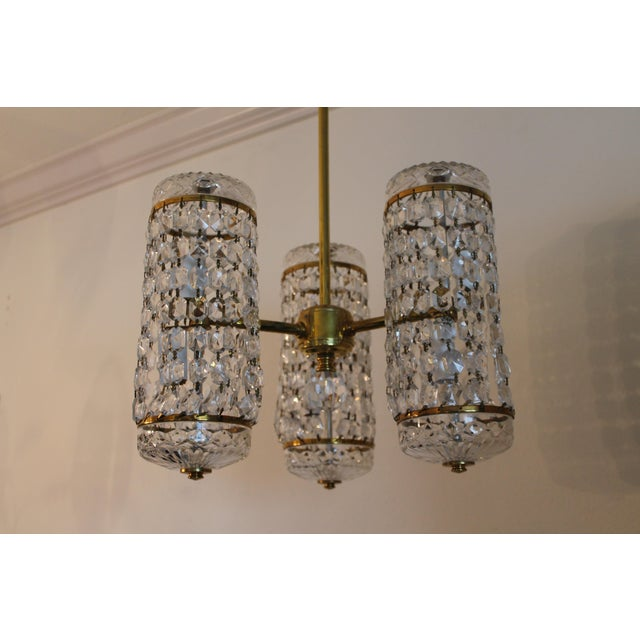 Mid-Century Authentic Crystal Signed Chandelier by Waterford Circa 1960's For Sale - Image 10 of 11