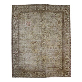 Distressed Antique Indian Agra with Modern Style and Industrial Aesthetic