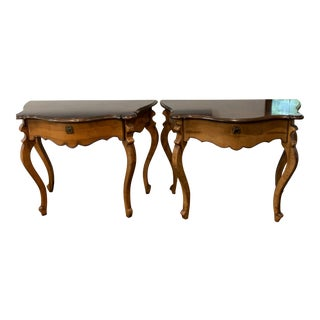 Baker Furniture Milling Road French Console Tables - A Pair For Sale