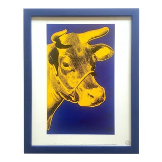 "Andy Warhol Estate Rare Vintage 1989 Framed Pop Art Lithograph Print "" Cow "" 1971 For Sale"