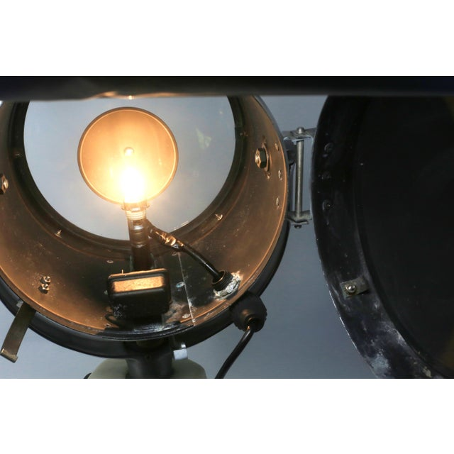 1940s Vintage Ray-Line Marine Search Light - Newly Rewired - Vintage Lamp For Sale - Image 5 of 13