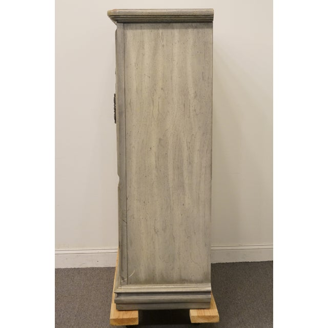 """Stanley Furniture Italian Provincial Green Tint Finish 43"""" Door Chest / Armoire For Sale - Image 11 of 13"""