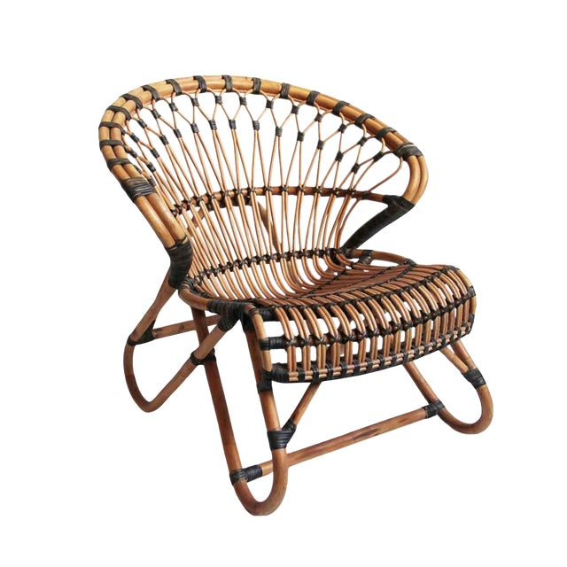 Bamboo & Rattan Side Chair - Image 1 of 3