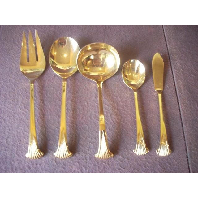Vintage 24k Gold Plate Flatware Service for 8 - Set of 69 For Sale - Image 6 of 7