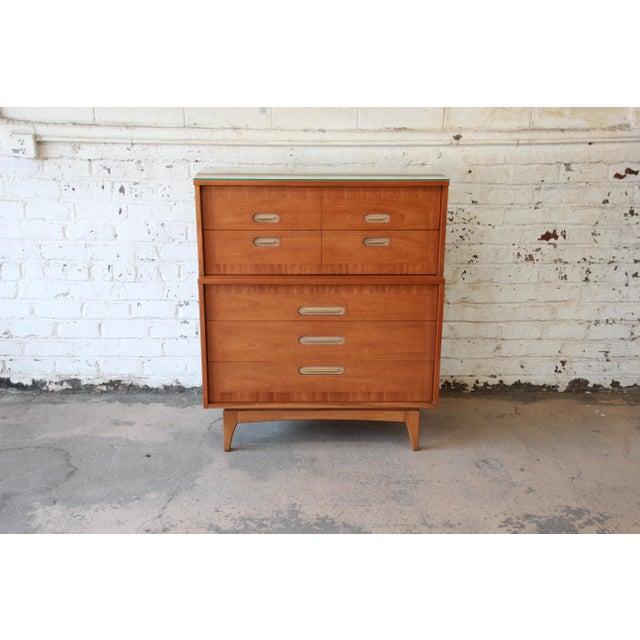 "Mid-Century Modern Kent Coffey ""Focus"" Mid-Century Modern Highboy Dresser For Sale - Image 3 of 9"