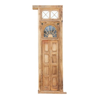 1800's Indo Portuguese Tall Slim Door For Sale