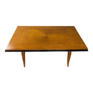 1940s French Mahogany Veneered Dining Table For Sale