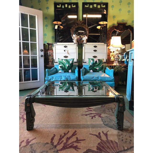 Vintage Regency Draped Tassel Coffee Table For Sale - Image 11 of 13