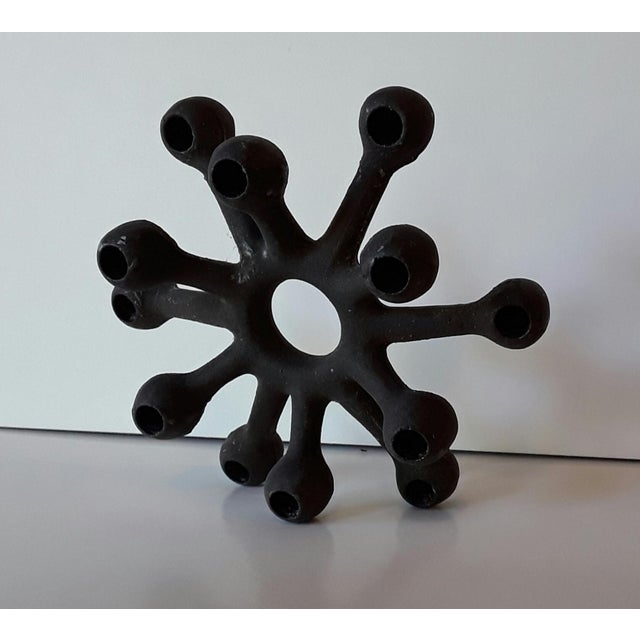 Dansk Danish Modern Spider Iron Candle Holder - Image 4 of 6