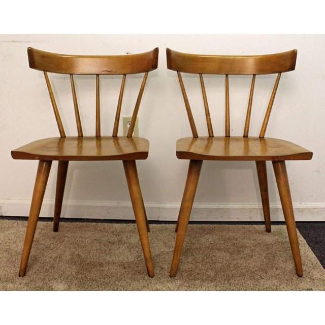 Mid-Century Danish Modern Paul McCobb Spindle Back Side Dining Chairs - a Pair For Sale - Image 11 of 11