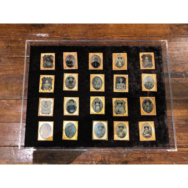 Collection of School Children and Teacher Portraits Circa 1870 in Acrylic Case - Set of 20 For Sale - Image 13 of 13