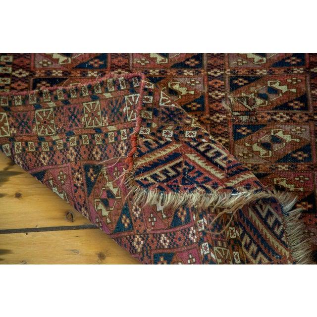 """Antique Turkmen Square Rug - 2'8"""" X 3'1"""" - Image 8 of 9"""