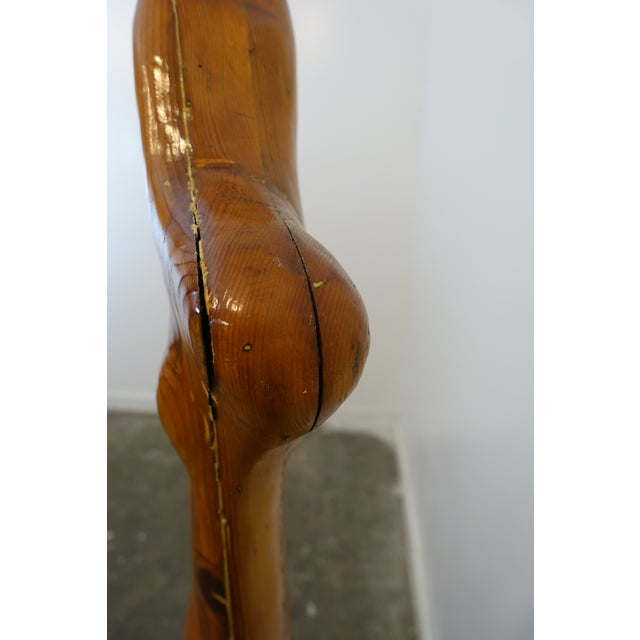 Late 20th Century Studio Wooden Leg Scultpure For Sale - Image 5 of 11