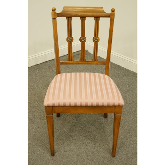 Traditional Vintage Century Furniture Italian Inspired Dining Side Chair For Sale - Image 3 of 9
