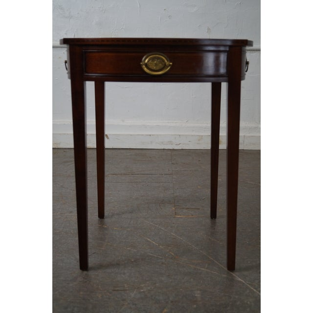 Store Item #: 14899-fwmr Kindel Winterthur Collection Mahogany Inlaid Hepplewhite Style Occasional Table (A) AGE/COUNTRY...