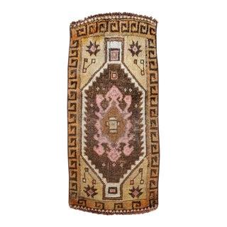 Halil Vintage Mini Turkish Rug For Sale