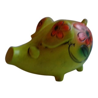 Vintage Colorful Mexican Piggy Bank