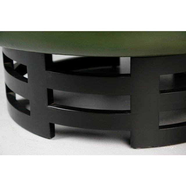 Leather Coffee Table With Gold Detail by Muller & Berringer for Kittinger For Sale In Los Angeles - Image 6 of 10