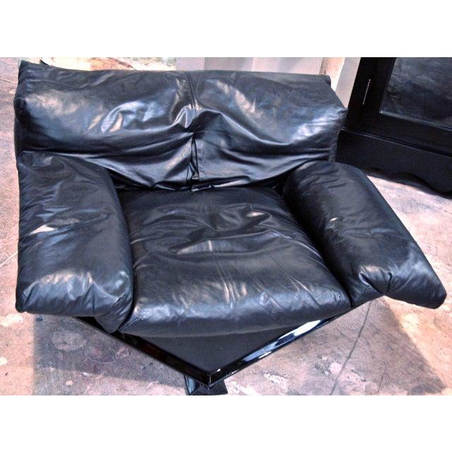 "Mobili Italiani Moderni (MIM) Italian MIM Leather Armchair ""VICTORY"" For Sale - Image 4 of 7"