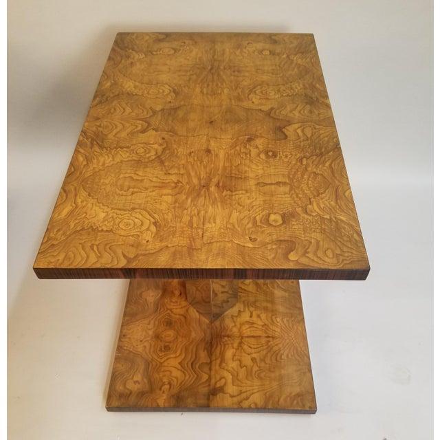 Burlwood 1930s Art Deco Burl Wood End Tables - a Pair For Sale - Image 7 of 9