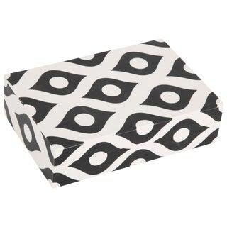 Contemporary Black White Resin Box For Sale