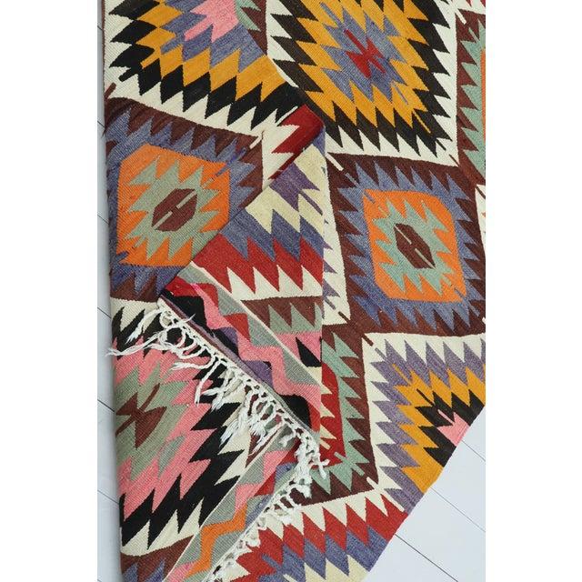 Vintage Turkish Kilim Rug For Sale - Image 12 of 13