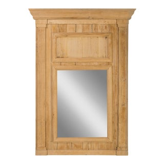 Trumeau Mirror in Natural Wood For Sale