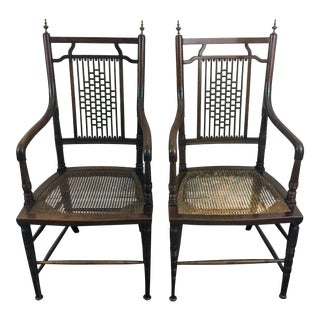 19th Century Aesthestic Movement Charles Yandell Dining Chairs - a Pair For Sale