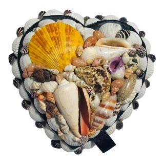 Heart-Shaped Shell Box For Sale