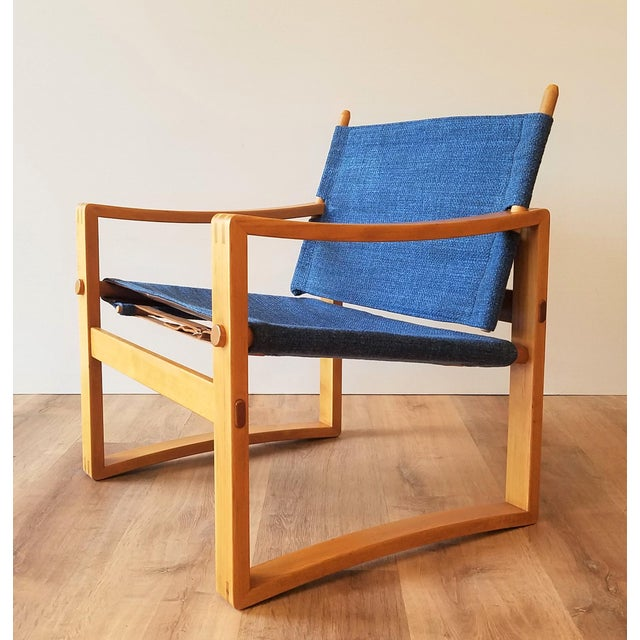 Newly-Upholstered Borge Jensen Danish Safari Sling Chairs - a Pair For Sale - Image 9 of 10