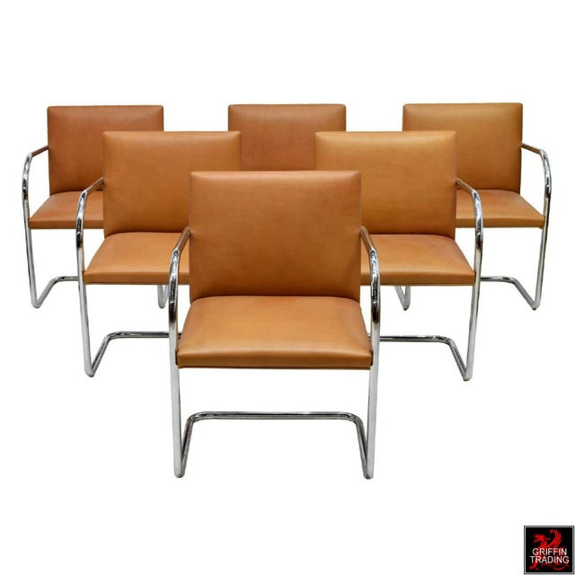 Six Mies Van Der Rohe Brno Armchairs by Knoll For Sale - Image 13 of 13