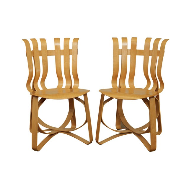 "Frank Gehry for Knoll Bent Wood Pair ""Har Trick"" Chairs For Sale - Image 13 of 13"