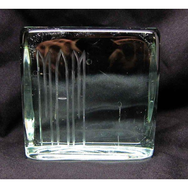 Glass Square Paper Weight - Image 4 of 4